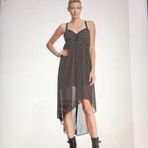 BCBGeneration Dress high low polka dotted XS